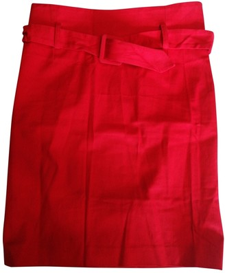 Valentino Red Cotton Skirt for Women Vintage