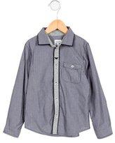 Armani Junior Boys' Pinstripe Button-Up Shirt