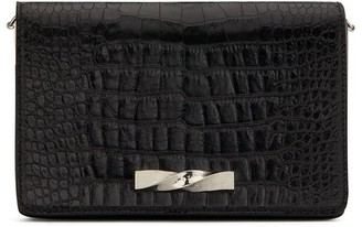 Giuseppe Zanotti Crocodile-Effect Clutch Bag