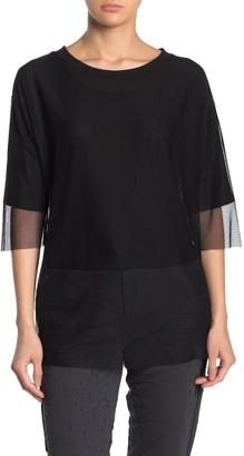 Alo Layer-Up Mesh Overlay T-Shirt
