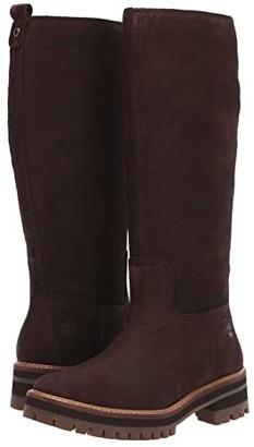 Timberland Courmayeur Valley Tall Boot (Dark Brown Nubuck) Women's Boots