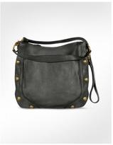 Black Genuine Leather Large Tote Shoulder Bag