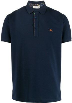 Etro Pegaso embroidery polo shirt