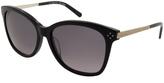 Chloé Black & Smoke Rounded Square Sunglasses