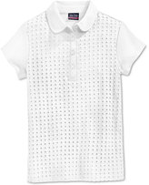 Nautica Uniform Eyelet Polo Shirt, Little Girls (2-6x)