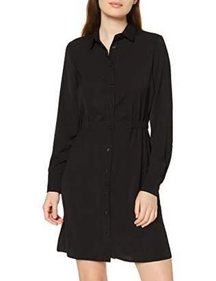 New Look Women's T Elastic Waist LS Shirt Mini Dress,(Size:)