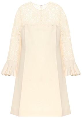 Valentino Wool and silk minidress