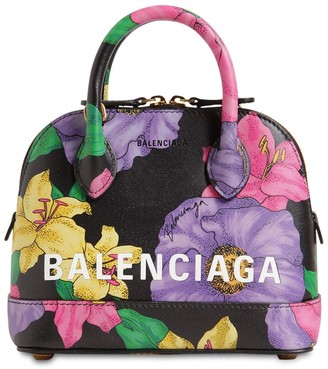 Balenciaga XXS VILLE BLUSH PRINTED LEATHER BAG