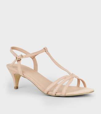 New Look Wide Fit Comfort Suedette Strappy Heels