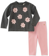 Kate Spade Swing Flower Applique Sweater W/ Leggings, Size 12-24 Months