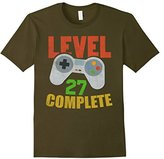 Level 27 Complete Video Gamer Geek 27th Birthday Gift Shirt--
