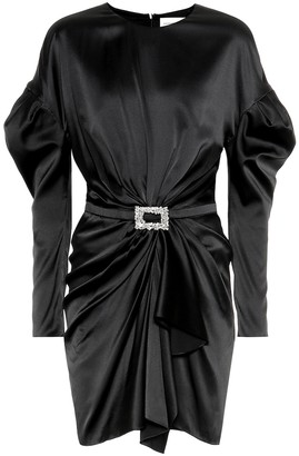 Alexandre Vauthier Embellished satin minidress