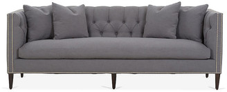 One Kings Lane Moreau Sofa - Charcoal Crypton - frame, chocolate; upholstery, charcoal; nailheads, silver