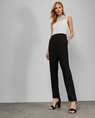 Ted Baker Sleeveless Lace Detail Jumpsuit