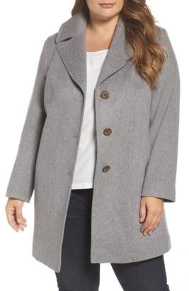 Fleurette Wool Walking Coat (Plus Size)