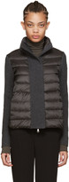 Moncler Grey Quilted Down Jacket