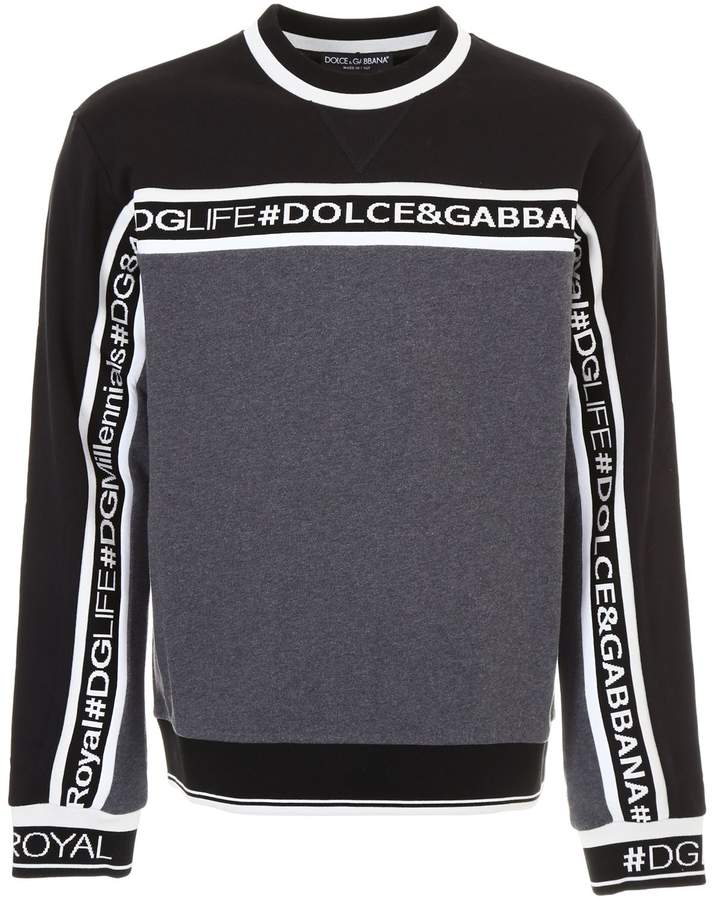 Dolce & Gabbana Sweatshirt With Logo Band