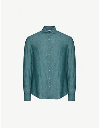 Stenstroms Slim-fit washed linen shirt