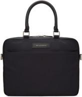 WANT Les Essentiels Black Haneda Computer Briefcase