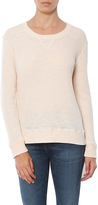 SALE Monrow Waffle Crew Neck Pullover
