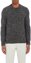 Zanone MEN'S CHUNKY CREWNECK SWEATER-GREY SIZE S