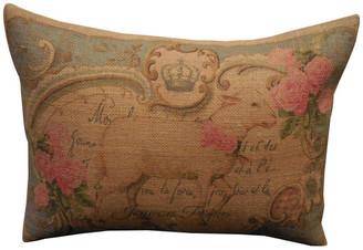 "Polkadot Apple Pillows Vintage Lamb Burlap Pillow, 12""x16"""