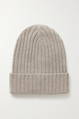 Arch4 + Net Sustain Megan Ribbed Cashmere Beanie - Gray