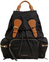 Burberry Medium Rucksack Nylon & Leather Backpack
