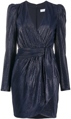 Jonathan Simkhai Metallic Mini Wrap Dress