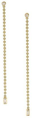 Maria Canale Flapper 18K Yellow Gold & Diamond Shoulder Duster Ball Earrings