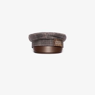 Ruslan Baginskiy Brown Tweed Baker Boy Hat