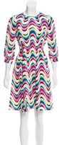 Kate Spade Silk-Blend Abstract Print Dress
