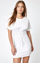 La Hearts Lace-Up Corset T-Shirt Dress