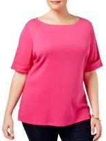 Karen Scott Plus Cuffed T-Shirt