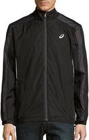 Asics Men's Long-Sleeve Front-Zip Jacket - Black, Size x-large