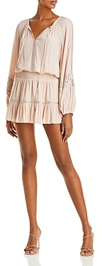Ramy Brook Brett Embellished Smocked Dress
