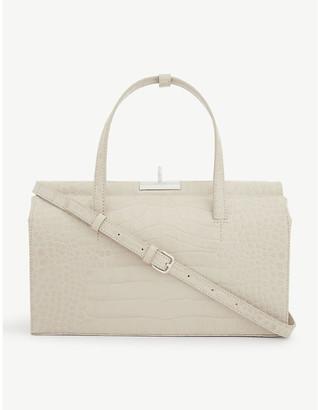 Gu_de Margot croc-embossed leather top-handle bag