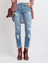 "Charlotte Russe Refuge """"Boyfriend"""" Destroyed Jeans"