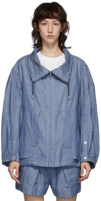 3.1 Phillip Lim Blue Chambray Utility Sport Jacket