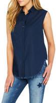 Mavi Jeans Jodi Frayed Indigo Shirt