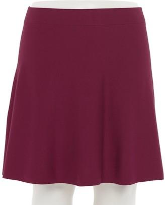 Iz Byer Juniors' Plus Size Pull-On Sweater Skater Skirt