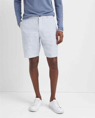 "Club Monaco Maddox 9"" Linen Stripe Short"