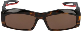 Balenciaga Eyewear Hybrid Rectangle Frame Sunglasses