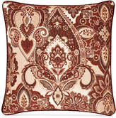 "J Queen New York Rosewood Burgundy 20"" Square Decorative Pillow"