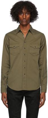 Saint Laurent Khaki Classic Western Shirt