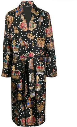 Dolce & Gabbana Royal Print Dressing Gown