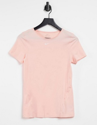 Nike essential t-shirt in coral