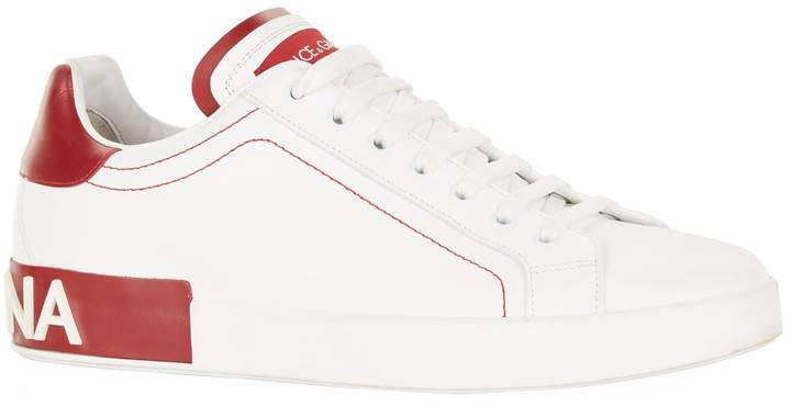 Dolce & Gabbana Portofino Logo Heel Sneakers