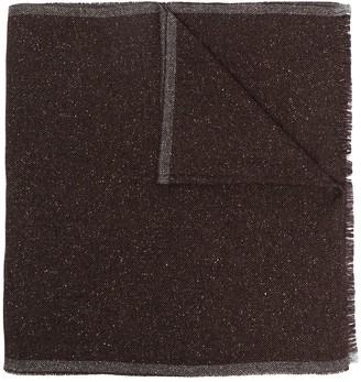 Eleventy Knitted Side-Stripe Scarf