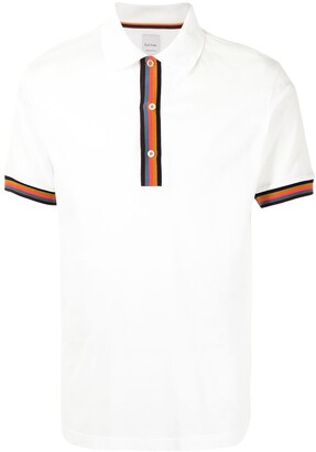 Paul Smith Rainbow-Stripe Polo Shirt